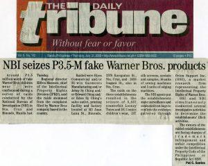 Fake Warner Bros. Products
